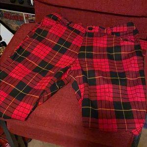 Vintage plaid bell bottom pants